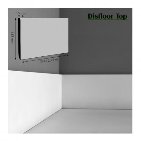 Rodapié Disfloor Lacado Blanco 115 X 15 mm