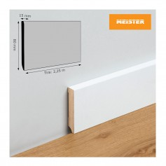 Rodapié Meister Lacado Blanco 80 X 15 mm