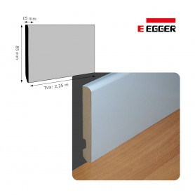 Rodapié Egger Lacado Blanco 85 X 15 mm