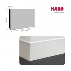 Rodapié Haro Lacado Blanco 120 X 15 mm