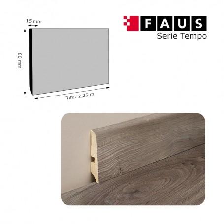 Rodapié Faus a juego serie Tempo 80 X 15 mm