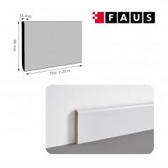 Rodapié Faus Lacado Blanco 90 X 15 mm