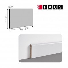 Rodapié Faus Lacado Blanco 120 X 15 mm