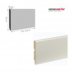 Rodapié Krono Swiss Lacado Blanco 80 X 15 mm