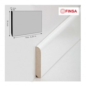 Rodapié Finsa Lacado Blanco 70 X 15 mm