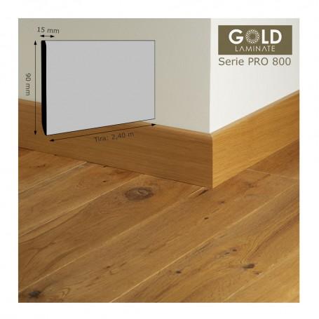 Rodapié Gold Laminate a juego con Serie PRO800 90 X 15 mm