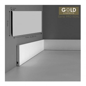 Rodapié Gold Laminate Lacado Blanco 70 X 15 mm