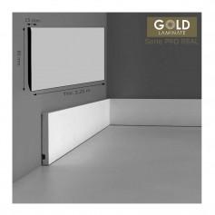 Rodapié Gold Laminate Lacado Blanco 85 X 15 mm