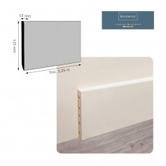 Rodapié Essenz Laminat Lacado Blanco 115 X 15 mm